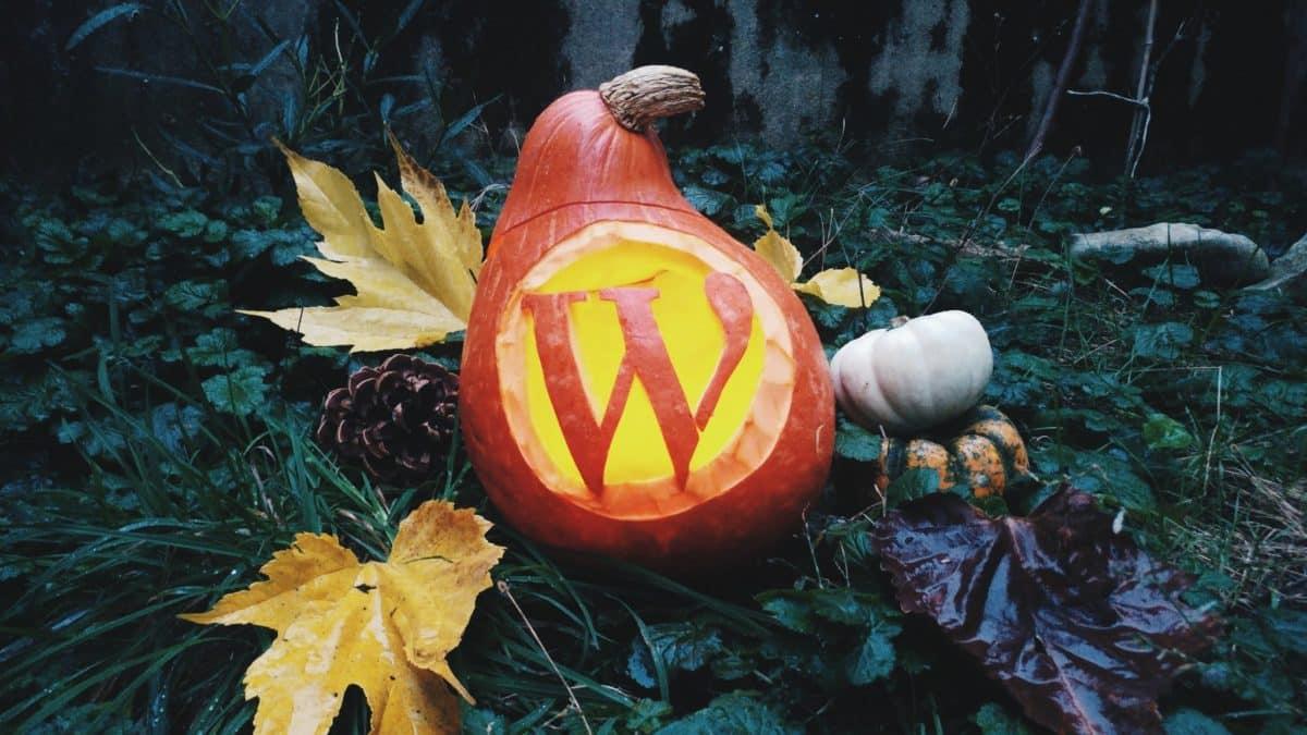 WordPress pumpkin halloween by Jb Audras
